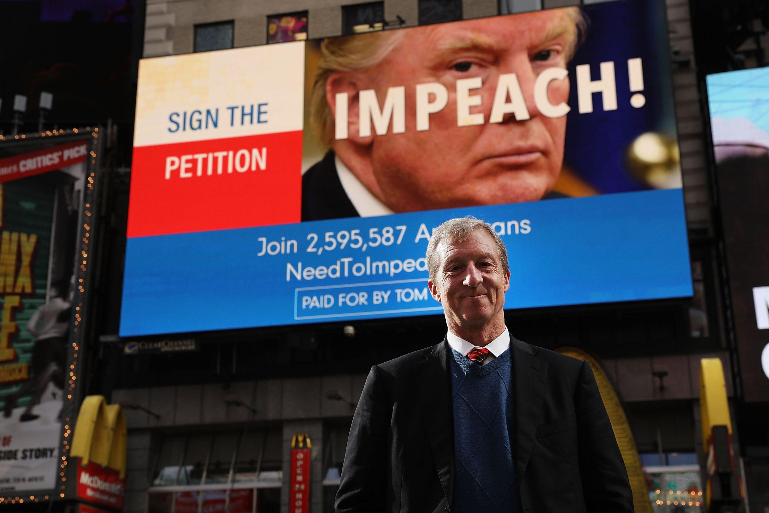 Trump, Steyer Talk Impeachment in Ads